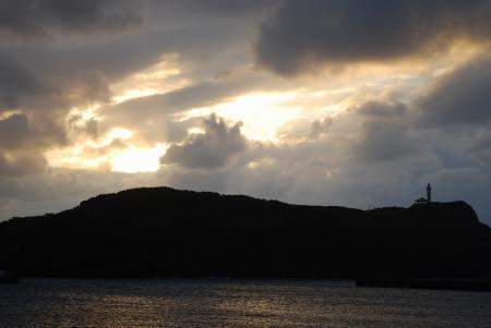 0187日本最西端の夕日