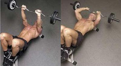 lying triceps press up