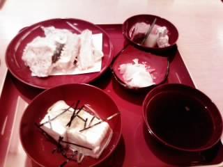 加賀野菜の天ぷらと加賀豆腐