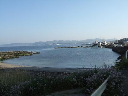 a横須賀基地近くの浜