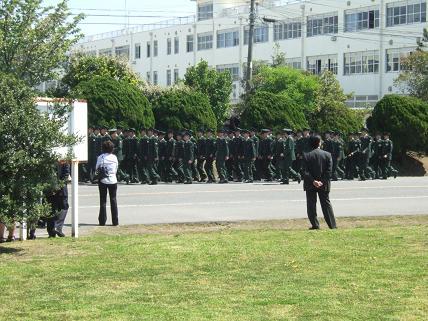 a寮に戻る隊列DSCF7921