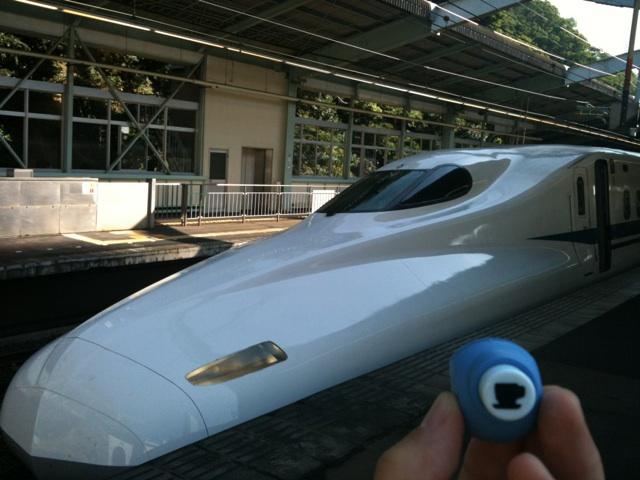 新幹線とお守り