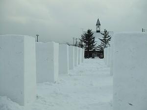 100122雪枠作り