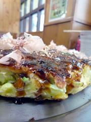 日吉の味道楽でボリューム満点お好み焼き!