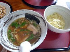 武蔵ヶ丘の魚介ラーメン武蔵で魚介つけめん♪