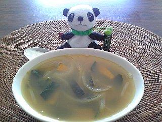 かぼちゃとほうれん草のスープ