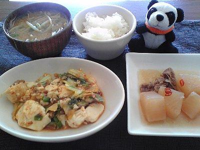 キャベツと豆腐のうま煮
