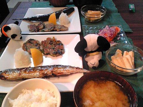 秋刀魚の塩焼き献立