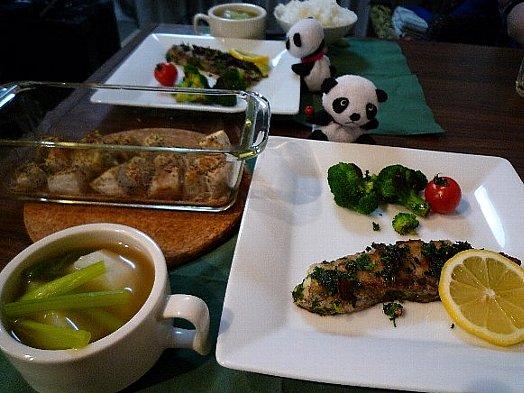 鱈のソテー&里芋のローズマリー焼き