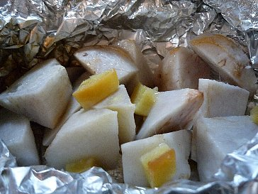 サトイモのホイル焼き