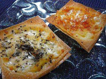 シュウマイの皮のチーズトースト