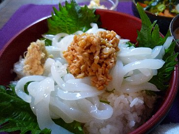 イカ納豆丼
