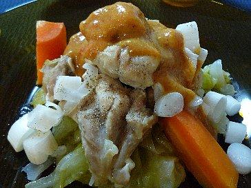 鶏と野菜蒸し