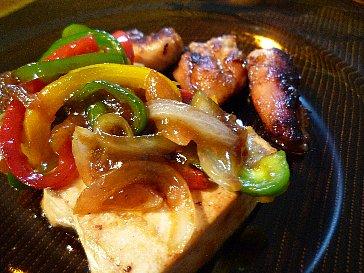 豆腐と鶏の照り焼き