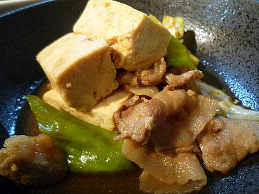 キャベツと豆腐のタレやき