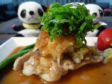 鶏ソテー おろシソわさびソース