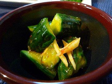 胡瓜の豆板醤和え