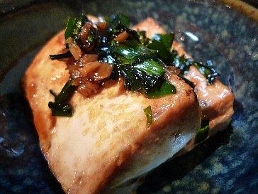 焼き豆腐ステーキ