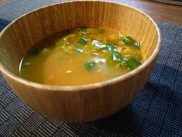 ニラと海老の濃厚スープ