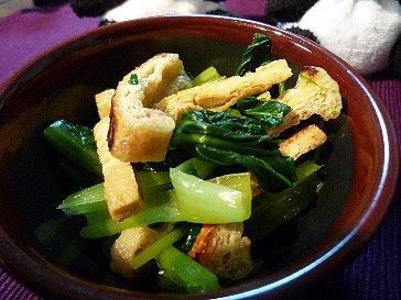 小松菜と三つ葉の和え物