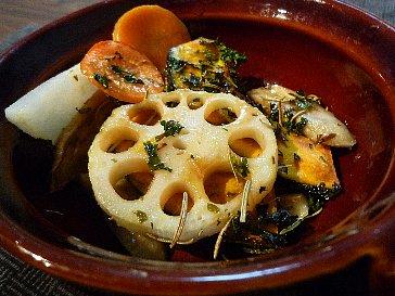 根菜のハーブグリル