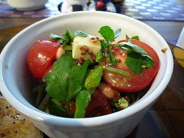 クレソンとお豆のマスタードサラダ