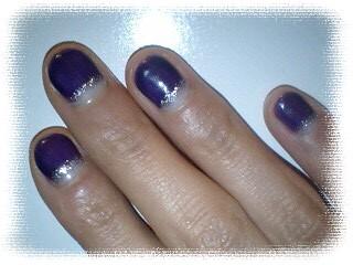 逆フレンチ 紫