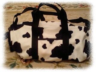 牛柄ドラムバッグ