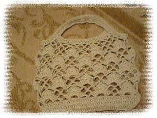 カギ編みペタンコミニバッグ