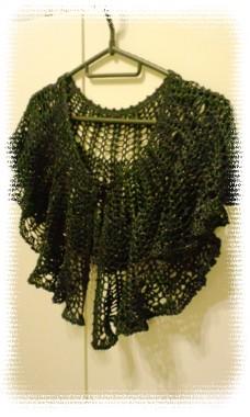 カギ編み フリルケープ2