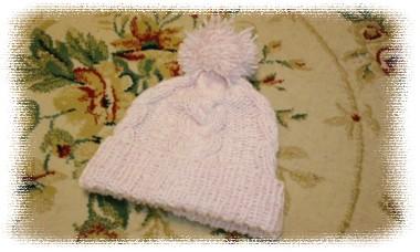 ニット帽ピンクラメ1