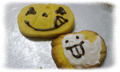 かぼちゃクッキー顔?!