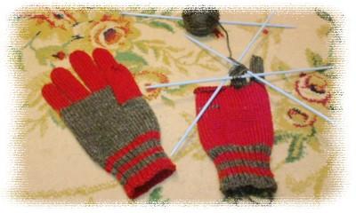 ツートン手袋