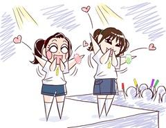 投げキッス浅野さんと神田さん