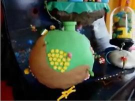 スゲーーー! スーパーマリオ ギャラクシーの動くケーキ
