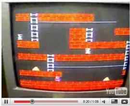 ファミコンの ロードランナーを超・高速化する裏技を実践