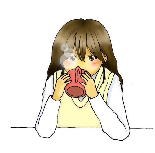 女の子飲み物 のコピー