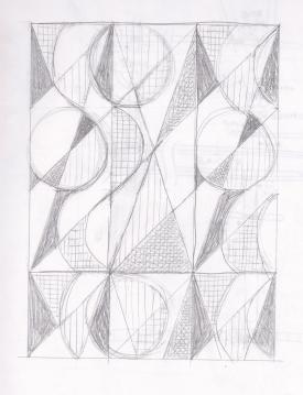 モノトーンデザインラフ画2