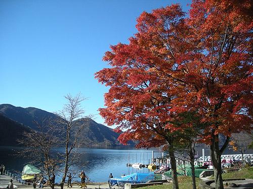 ☆紅葉の中禅寺湖