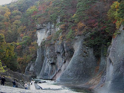 吹割の滝・紅葉①