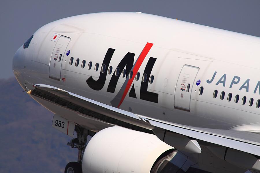 JAL B777-246 JAL112@伊丹スカイパーク(by EOS50D with SIGMA APO 300mm F2.8 EX DG/HSM + APO TC2x EX DG)