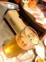 焼肉ビール♪