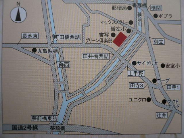 ABCハウジング書写の地図