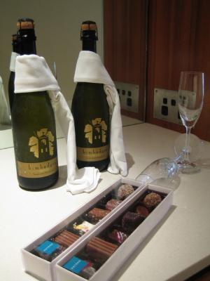 スパークリングワインとチョコ