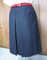 インディヴィギャレスト濃紺プリーツスカート