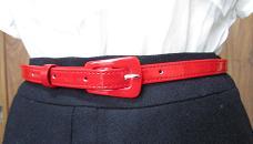 赤ベルト付き