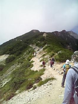 唐松への稜線①