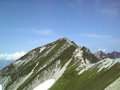 山荘からの唐松岳