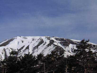 雪の御嶽山