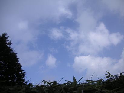 空はこんななのに